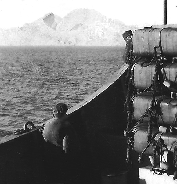 Men of the 300th passing Rock of Gibralter